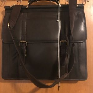 Dark Brown/Burgundy Leather Messenger